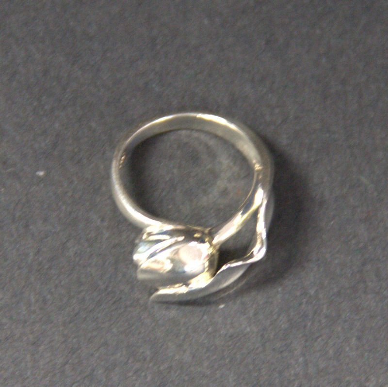 Vintage Tiffany & Co Sterling Tulip Ring Size 5