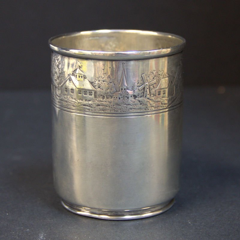Vintgae Tiffany & Co Makers Landscape Baby Cup