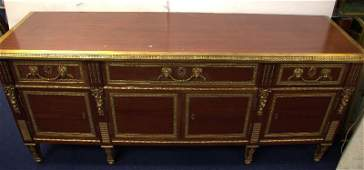 French Empire Style Bronze Mounted Figural Credenza