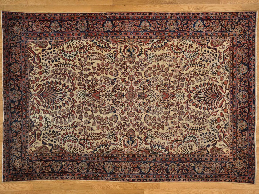 Handmade Antique Persian Lilahan Exc Cond Oriental Rug