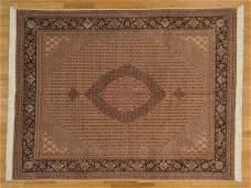 Tabriz Mahi Hand Knotted Rug Wool and Silk 300 kpsi