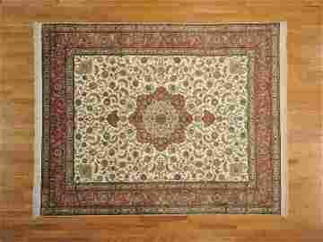 Pure Silk Rug 600 Kpsi Hand Knotted Fine Tabriz