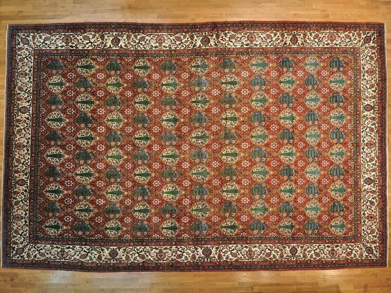 Semi Antique Persian Bakhtiari Mansion Size Rug