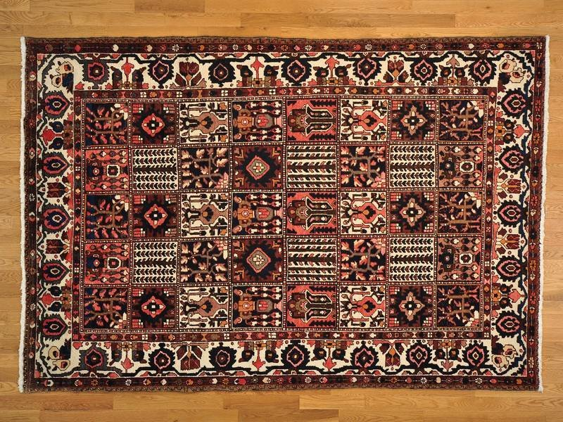 Garden Design Handmade Semi Antique Bakhtiari Rug