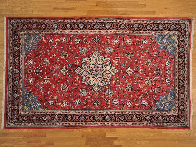 Semi Antique Persian Mahal Hand Knotted Rug