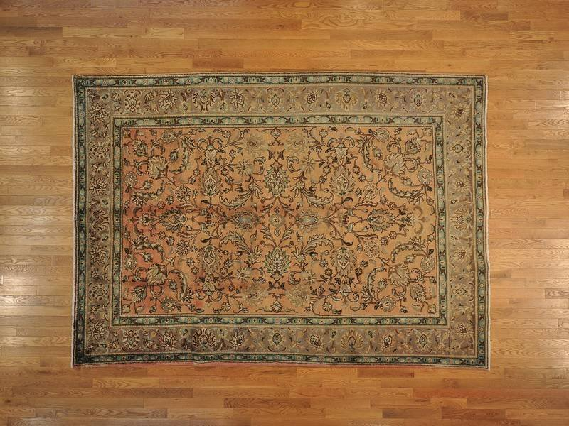 Semi Antique Persian Tabriz Hand Knotted Rug