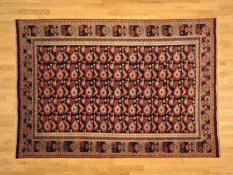 Old Afghan Exc Cond Hand Knotted Oriental Rug