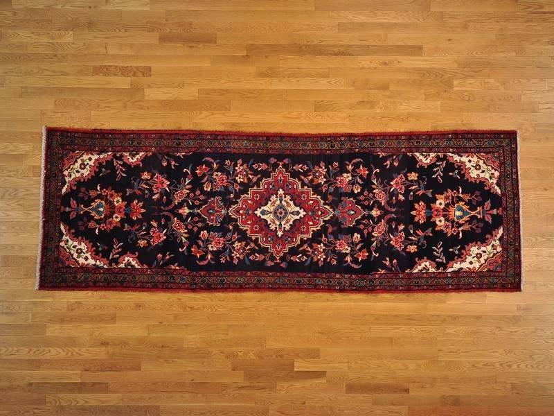 Semi Antique Persian Hamadan Wide Runner Rug