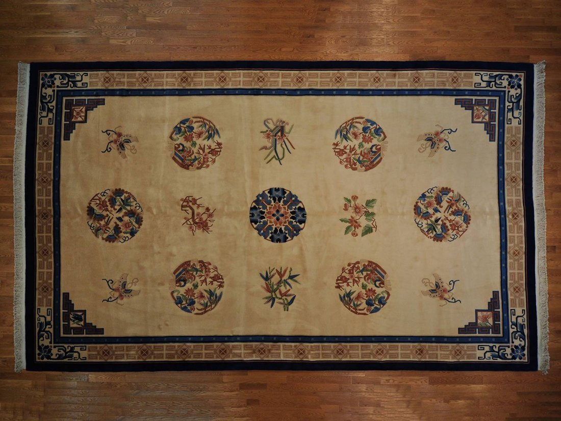 Thick and Plush Chinese Rug Gallery Size Handmade