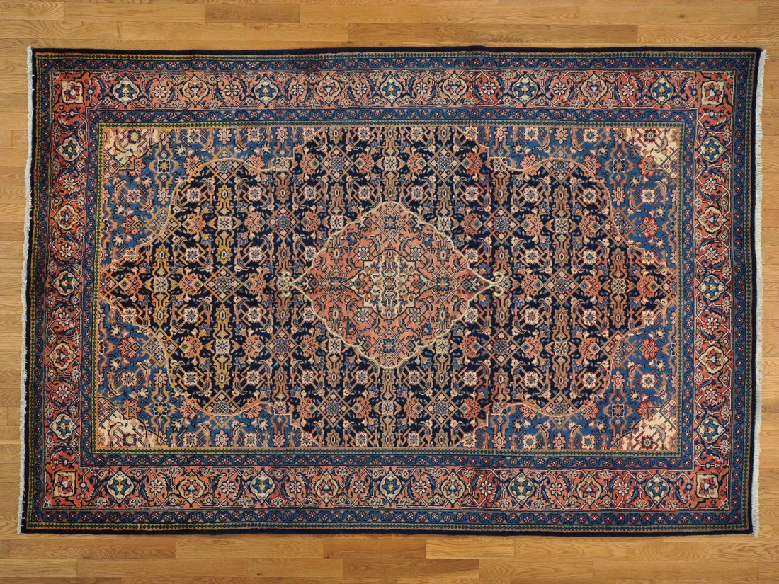 Persian Mahal Full Pile Hand Knotted Rug