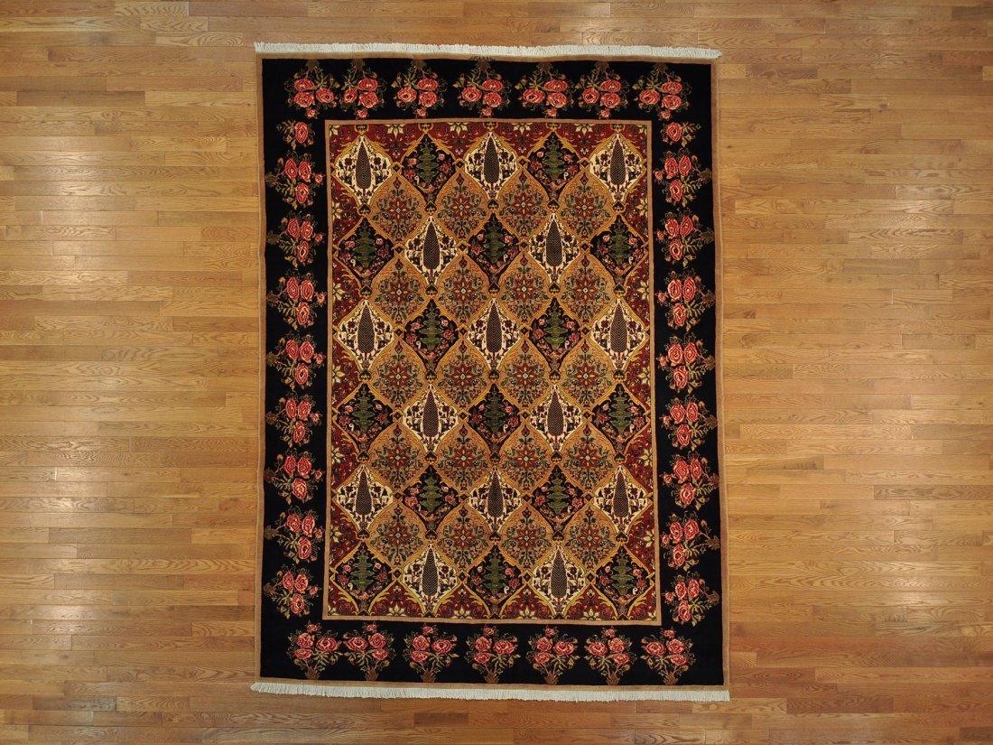 Signed Persian Bakhtiari Oriental Rug Handmade