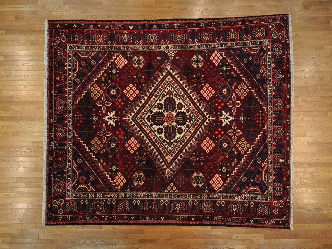Squarish Persian Bakhtiari Oriental Rug Handmade