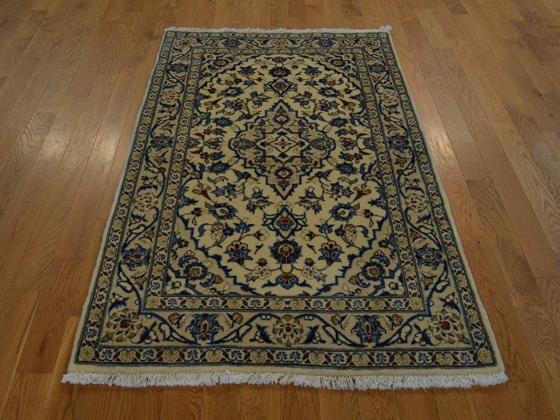 Persian Kashan Oriental Rug Hand Knotted