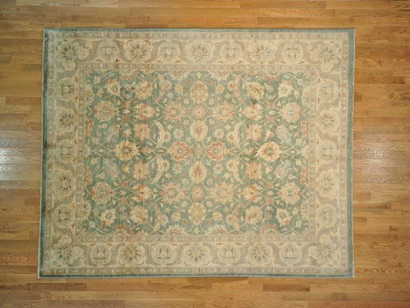Area Rug Hand Knotted Ziegler Mahal Forest Green