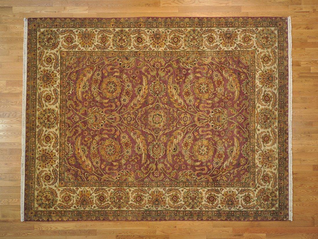 Dense Weave Purple Vegetable Dyes Handmade Oriental Rug