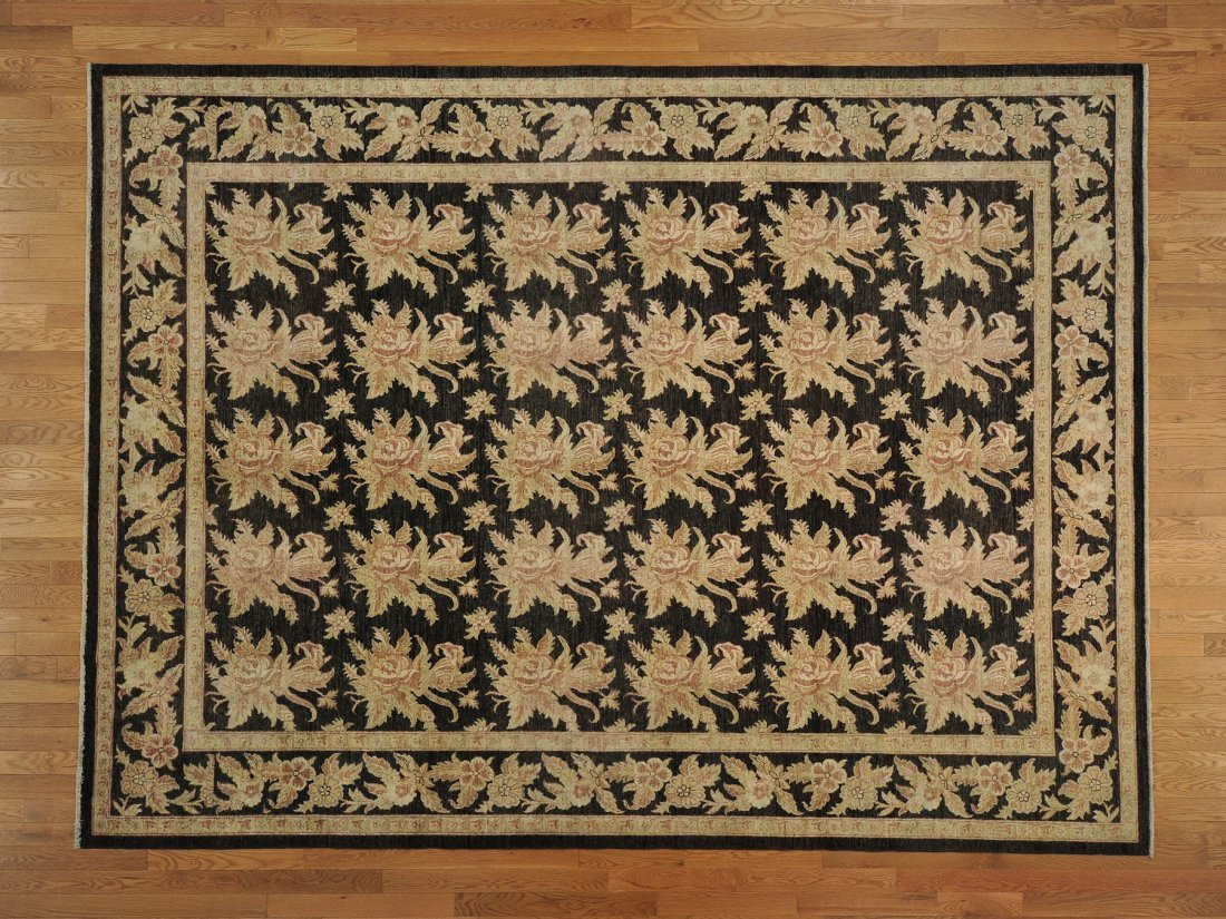 Peshawar Repetitive Design Hand Knotted Oriental Rug