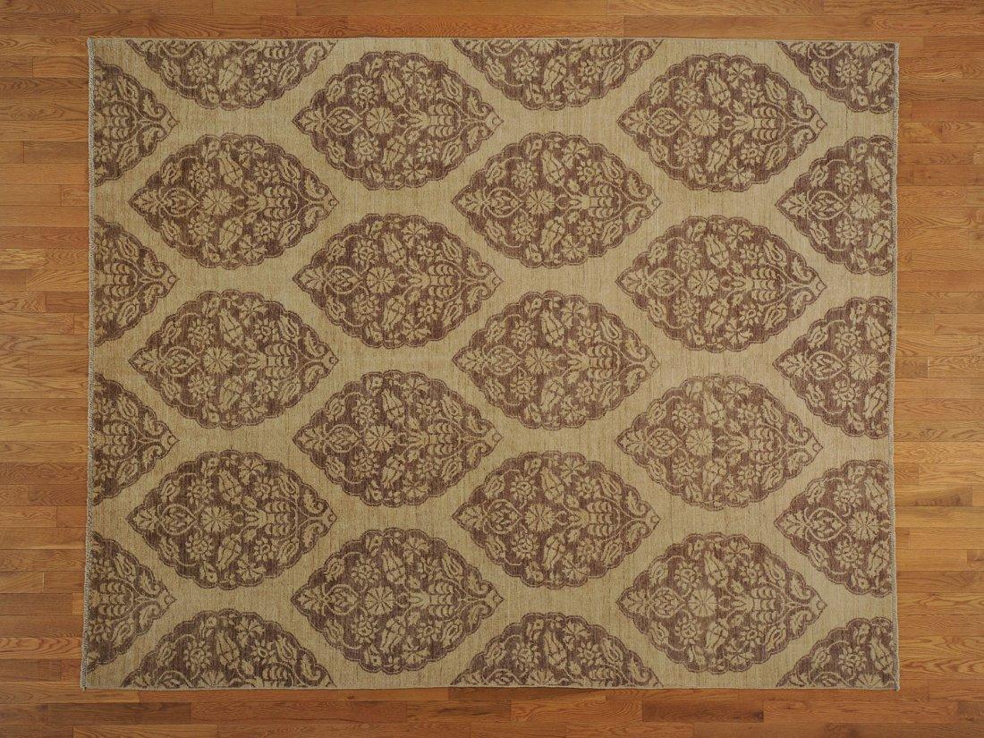 Tone on Tone Peshawar 100% Wool Oriental Rug Handmade