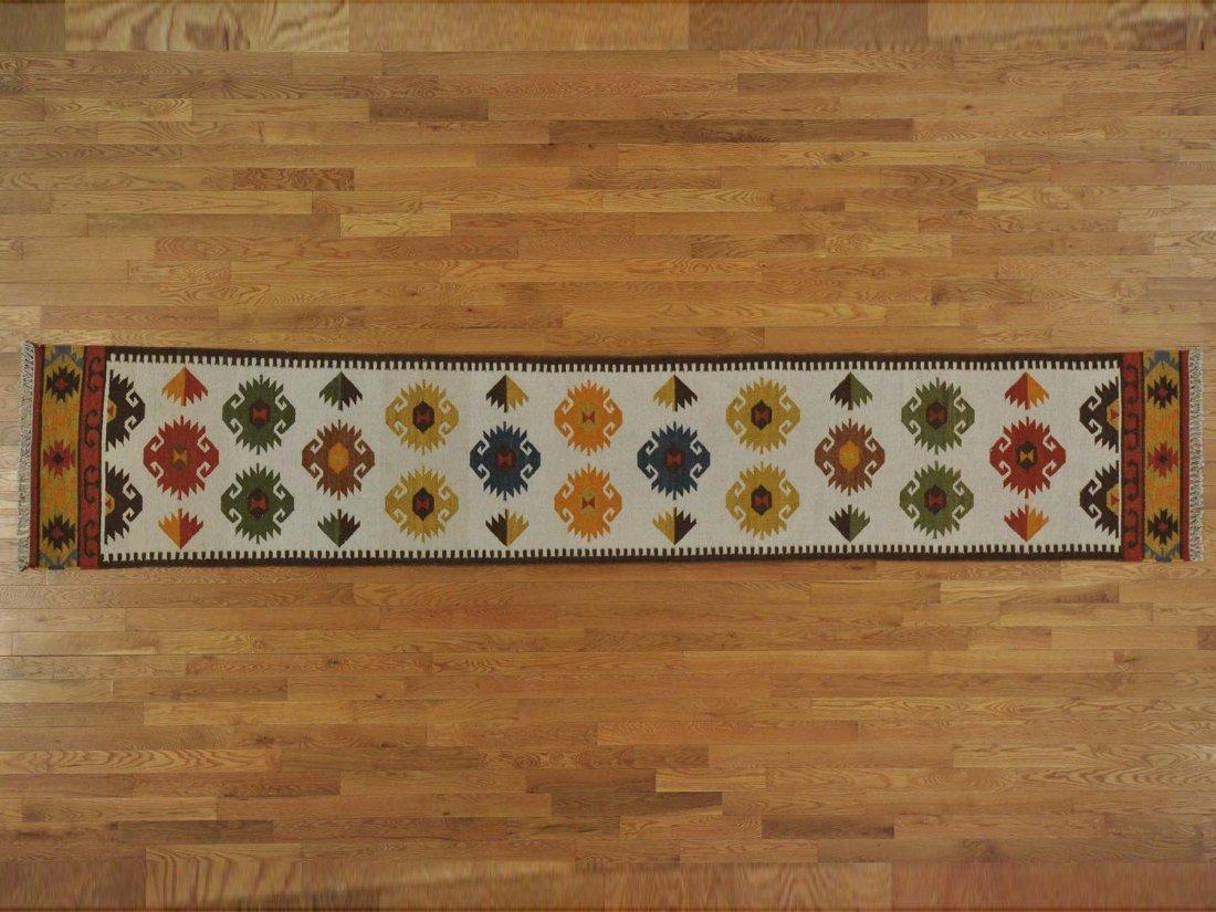 XL Runner Anatolian Kilim Oriental Rug Handmade