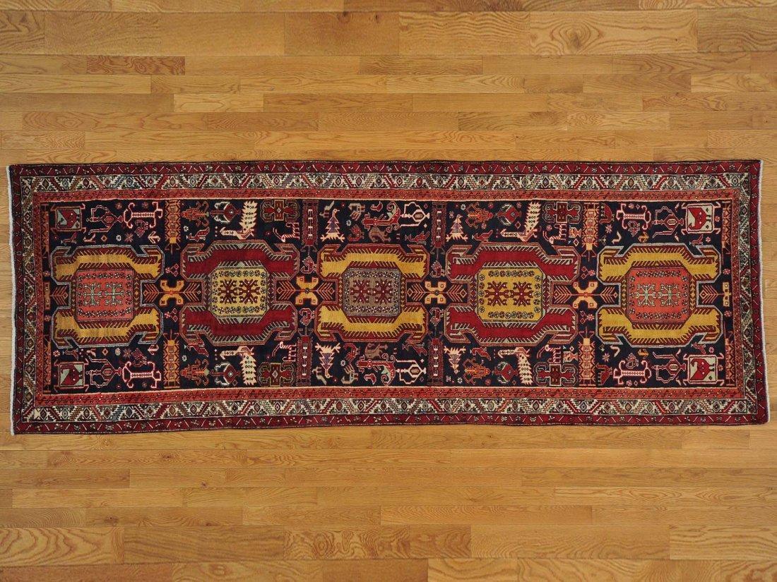 Runner Persian Heriz Full Pile Handmade Oriental Rug