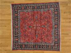 Square Handmade Persian Sarouk 100% Wool Oriental Rug