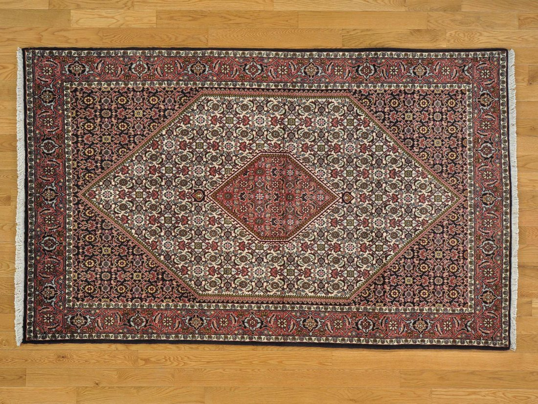 Hand Knotted Persian Bidjar 100 Percent Wool Rug