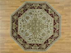 Octagonal Rajasthan Hand Knotted Thick and Plush Rug