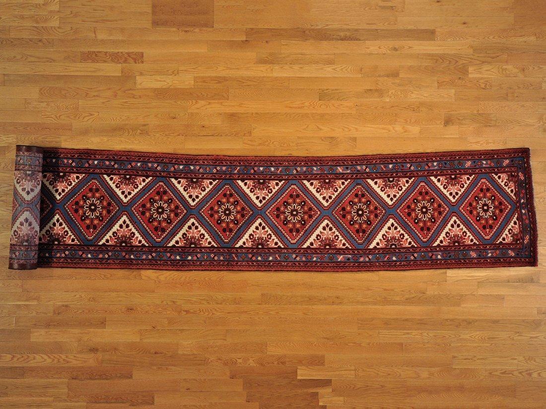 Hamadan XL Runner 3'x19' 100% Wool Handmade Rug