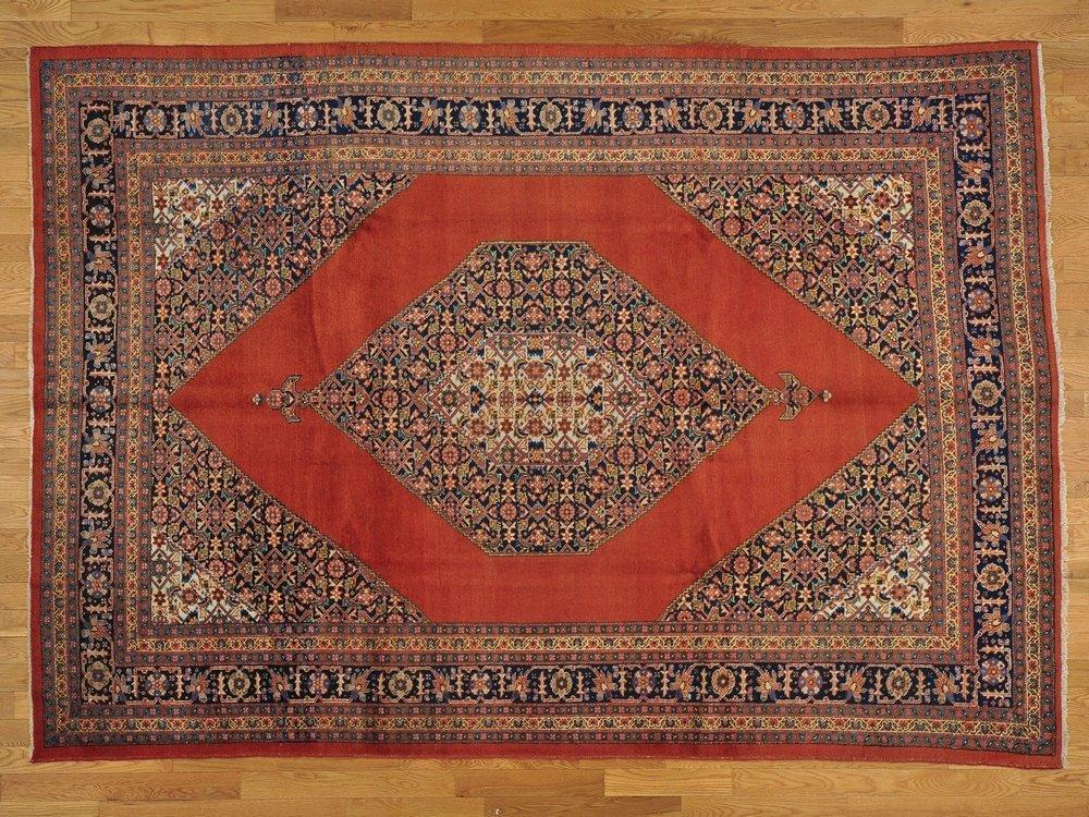 Antique Original Persian Tabriz Rug Handmade Mint Cond