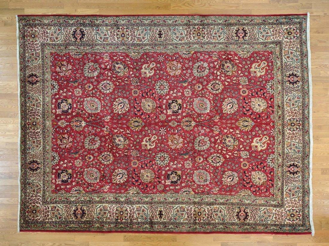 All Over Design Full Pile Persian Tabriz Handmade Rug