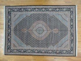Tabriz Mahi Wool And Silk 300 Kpsi Handmade Rug