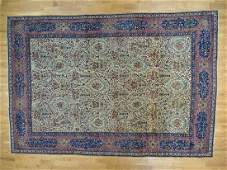 Antique Persian Kerman with Poetry and Animals Rug