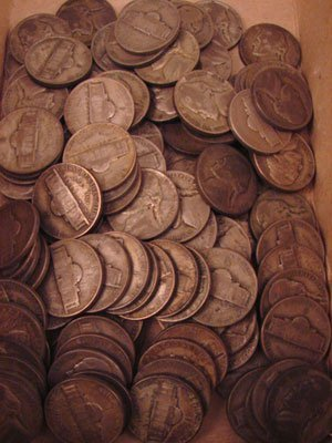 208: 110 War nickels. (approximate)