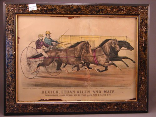 "1326A: Currier & Ives Lithograph Print. Titled ""Dexter,"