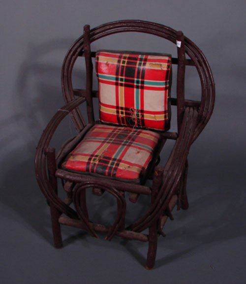 "11015: Childs Adirondack rustic chair. 24 1/2""h x 20""w"