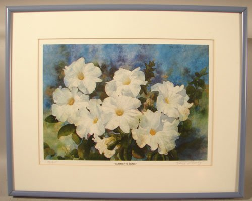 """11004: Pencil Signed Floral Print. Numbered """"70/315"""". T"""