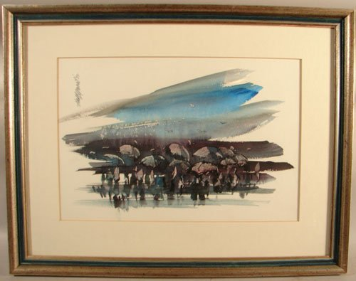 11008: Hall Groat Signed Watercolor Painting on Paper.