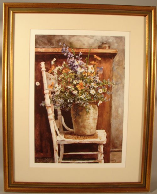 11023: Patton Wilson Color Lithograph Print. Still life