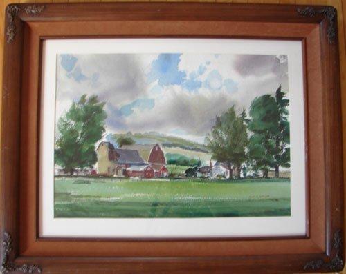 11208: John E. Detore Signed Watercolor Painting on Pap