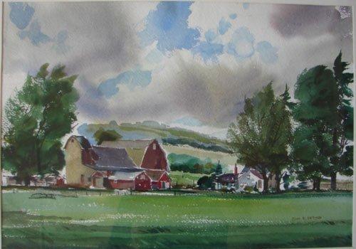 11208: John E. Detore Signed Watercolor Painting on Pap - 2