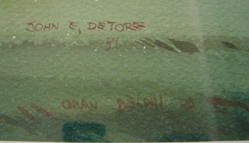 11208: John E. Detore Signed Watercolor Painting on Pap - 3