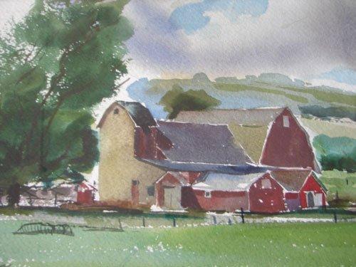 11208: John E. Detore Signed Watercolor Painting on Pap - 4