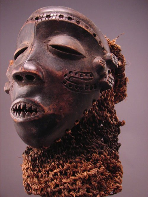 """1006: Pende Mask Zaire, Mbuya Mask. 8""""h x 6 1/4""""w x 4 3"""