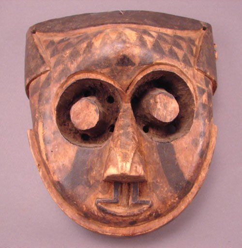 1010: Pwoon Ito, Carved Mask. Zaire. Bakuba Tribe. 7 3/
