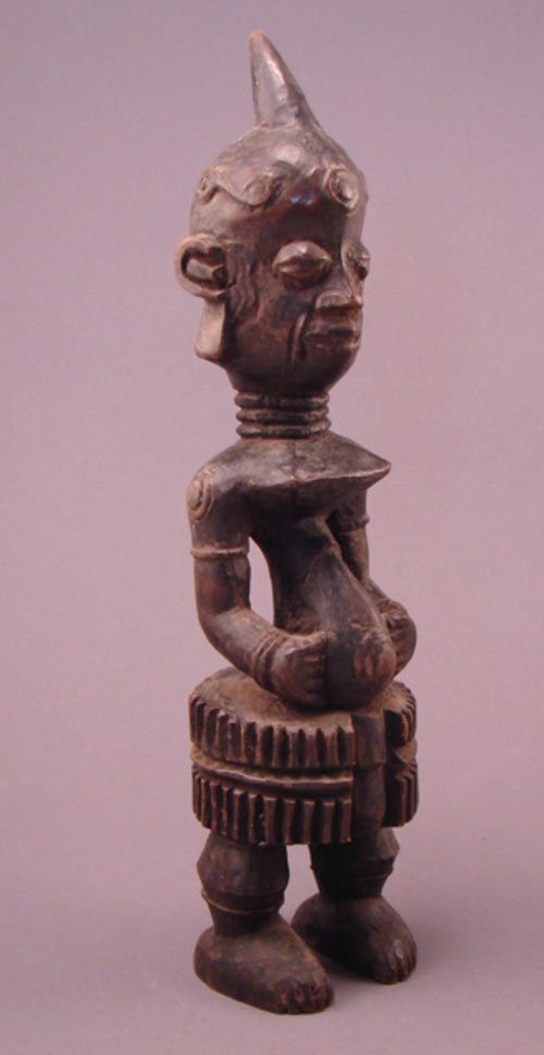 "1013: Lulua, Congo Carved Sculpture 13""h x 3 1/4""w x 2"