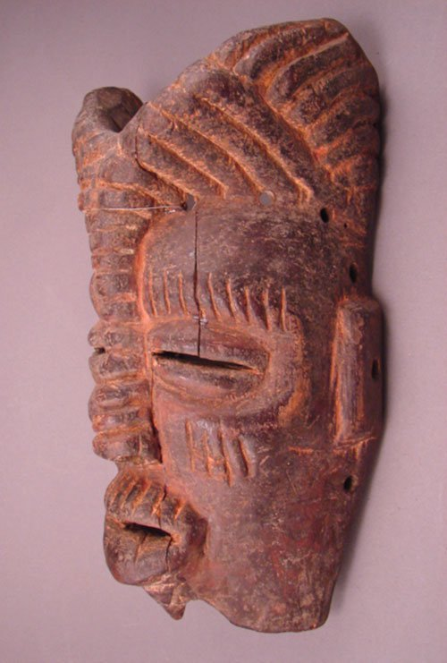 1016: Congolese Carved Mask. S. Zaire. Unattributed tri