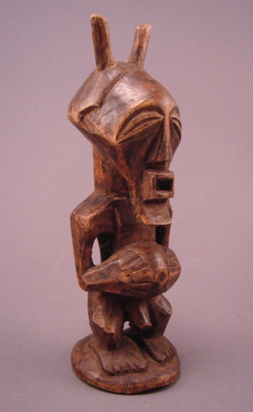 "1019: Songye, Congo Carved Sculpture. 8""h x 2 3/4""w x 2"