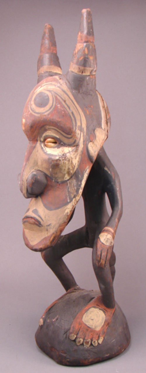 1266: Mauri, South African Carved Sculpture / Figure. 2