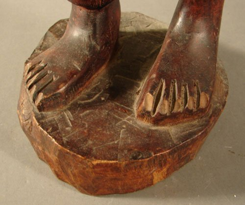 3211: Haitian Carved Wood Sculpture, man with pipe. 26  - 4