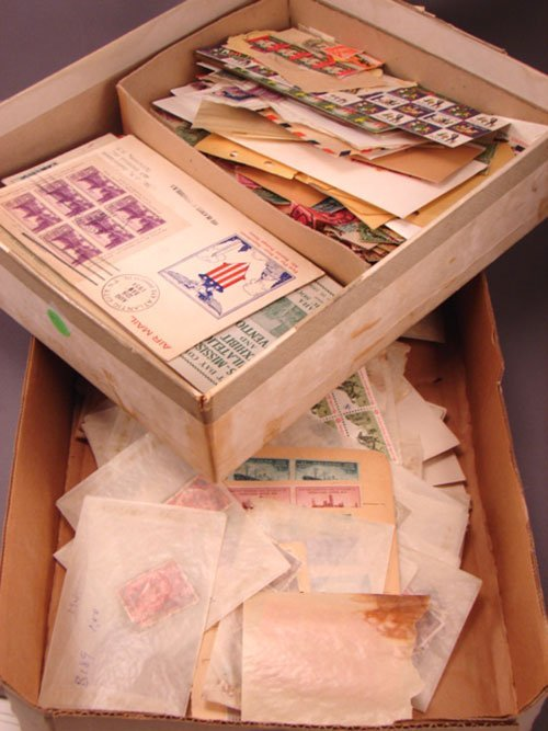 5011: Box of U.S. material  nice FDCs and First Flights