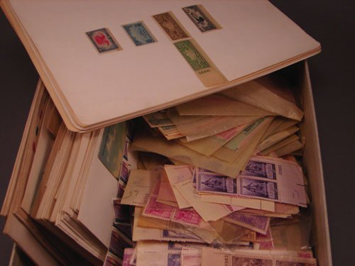 5012: Nice box of U.S. material -100s of plate blocks 3
